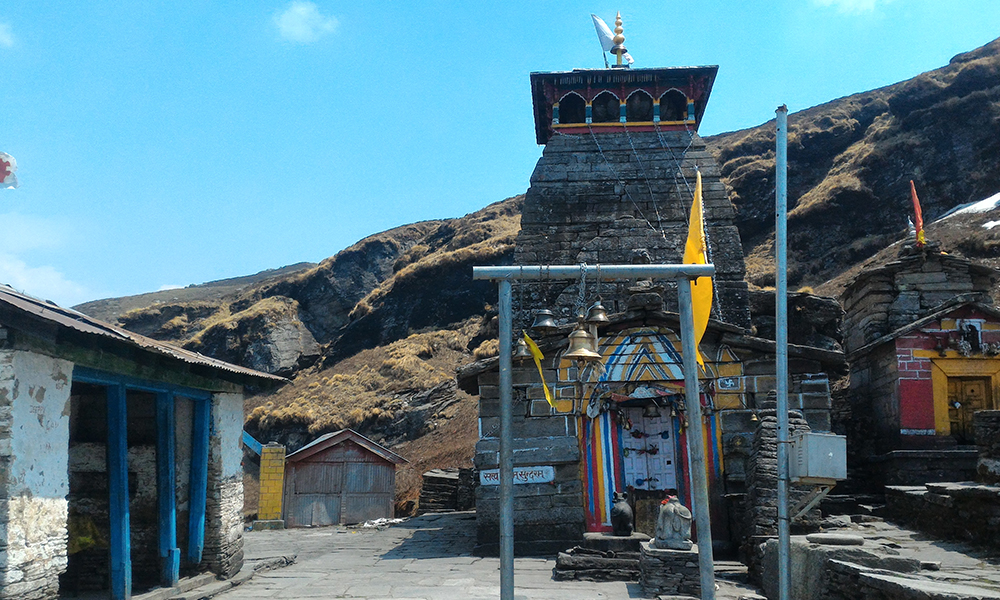 tungnath temple on top of hill