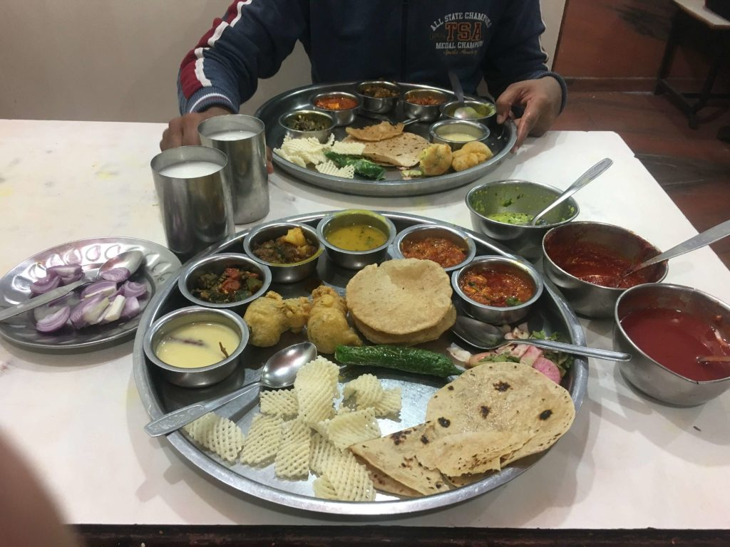 Gujarati Thali at Osho Restaurant in mandvi gujarat