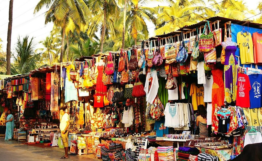 street shopping in goa