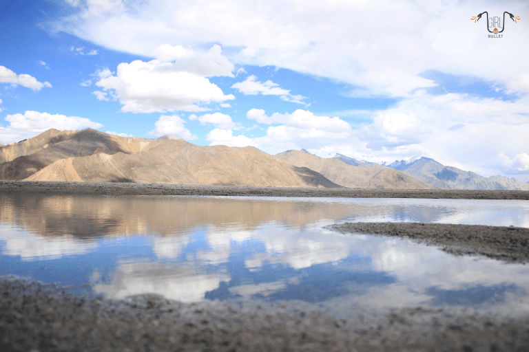 the view of pangong lake in ladakh