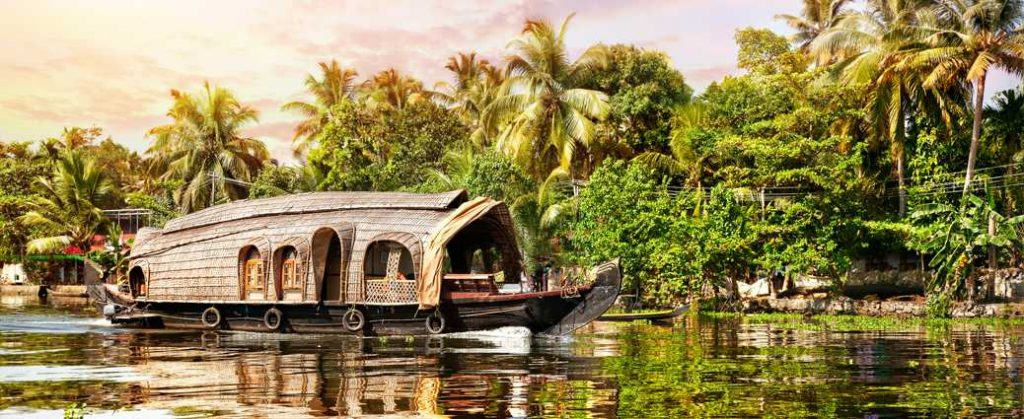 Houseboat in the backwaters of Alleppy