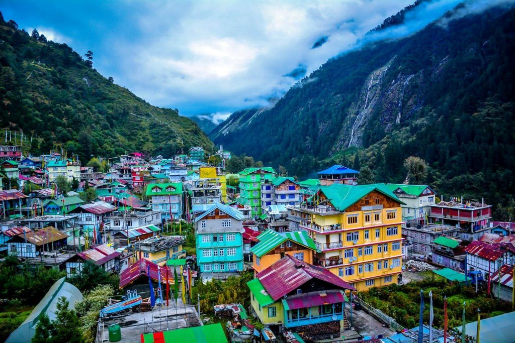 Beautiful town nestled in the valley of Lachen