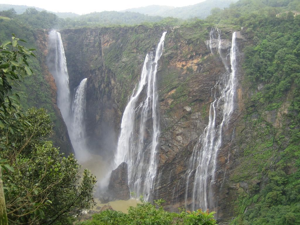 Gushing waterfalls from mountains of Pachmarhi